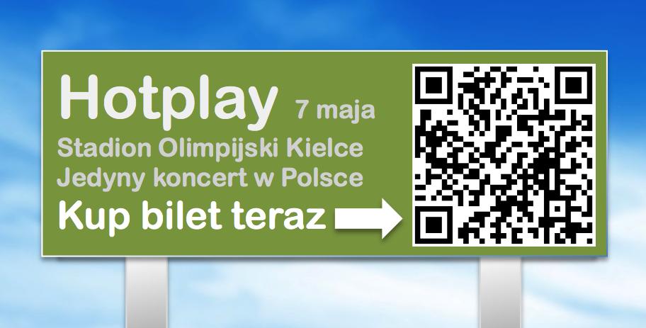 Zastosowanie kodow QR na billboardzie