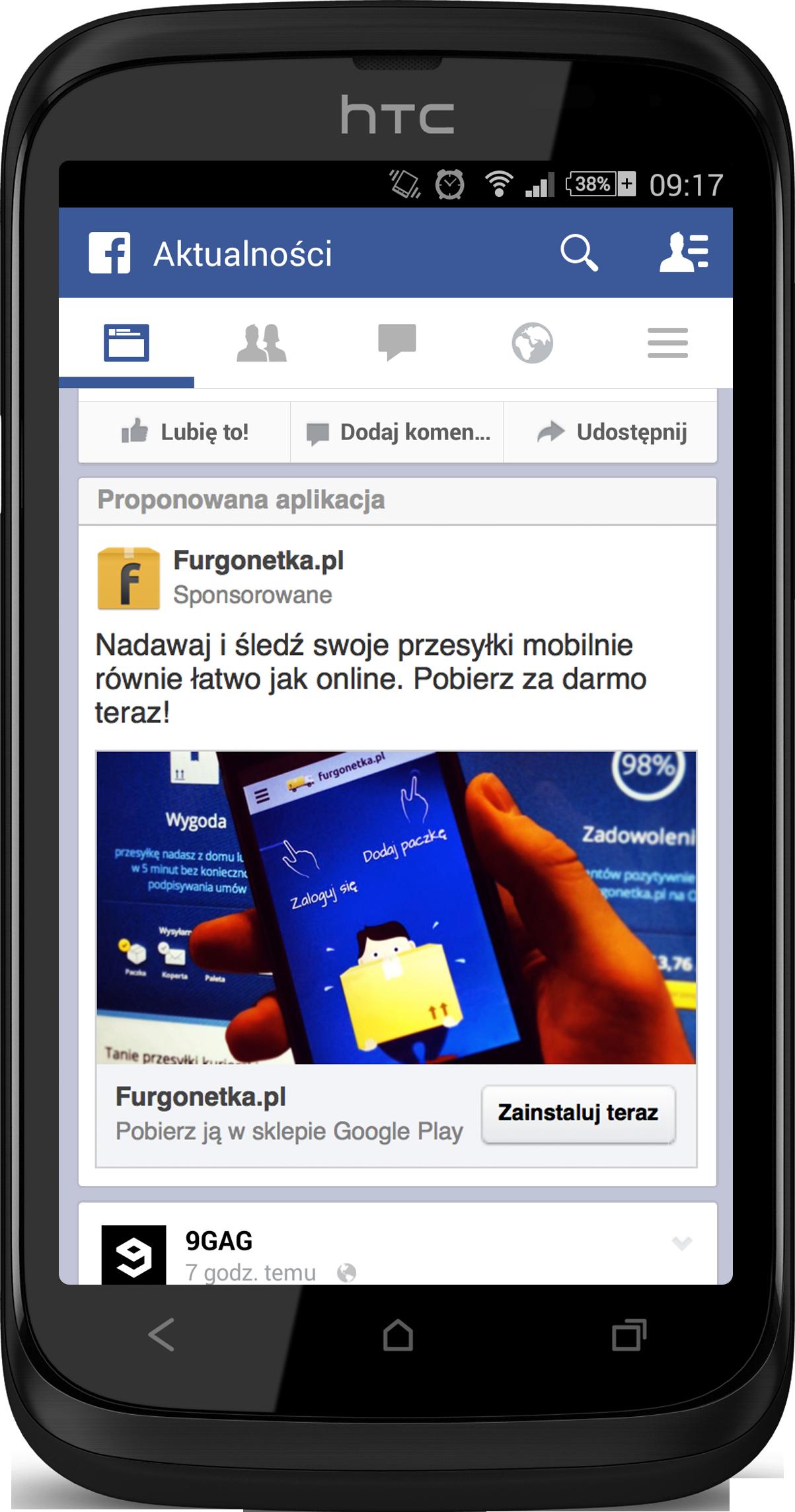 Reklamy aplikacji mobilnych na facebooku