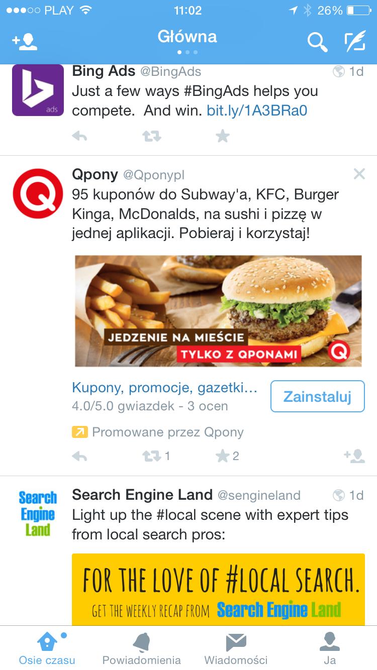reklama twittera pobranie aplikacji