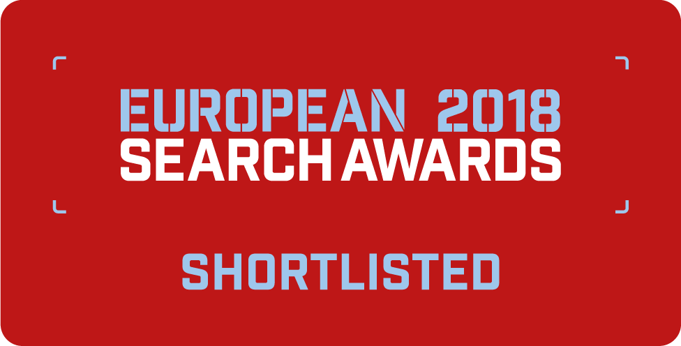 European Search Awards 2018 Badge
