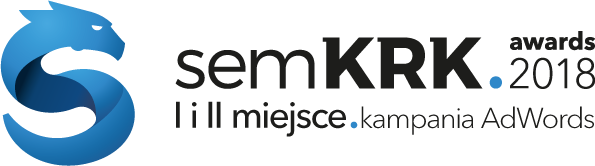 Badge of the semKRK Awards 2018 for the 1st and 2nd place in the Adwords Campaign category